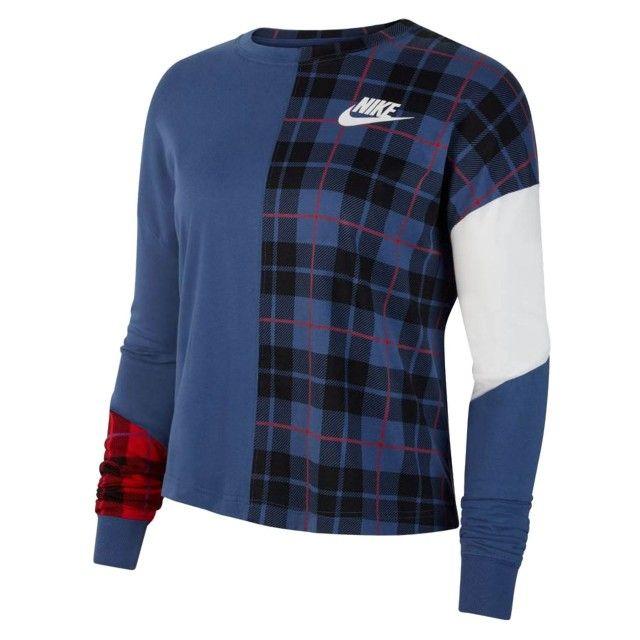 Sweat Nike Long Plaid