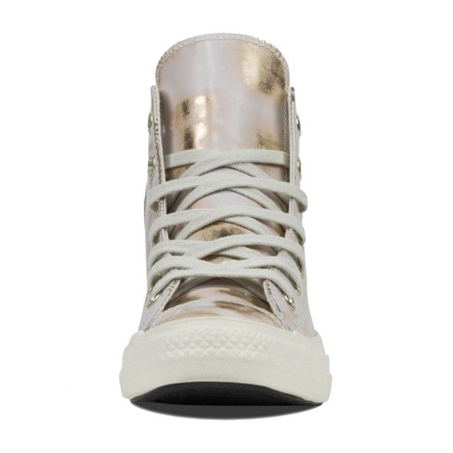 All Star Hi Brush Off Leather Buff Gold