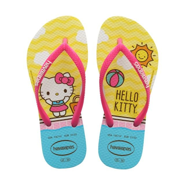 Chinelos Havaianas Slim Hello Kitty